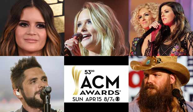 It's an all-star lineup of performers for the 53rd Academy of Country Music Awards