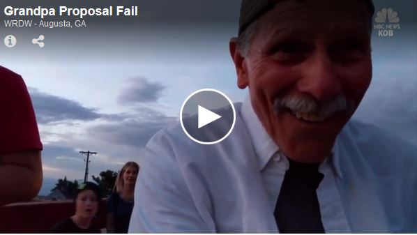 [WATCH] This Is Why You Don't Let Grandpa Film Your Marriage Proposal!