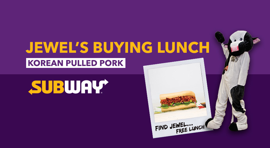Feature: http://www.jrfm.com/jewels-buying-you-lunch-at-subway/