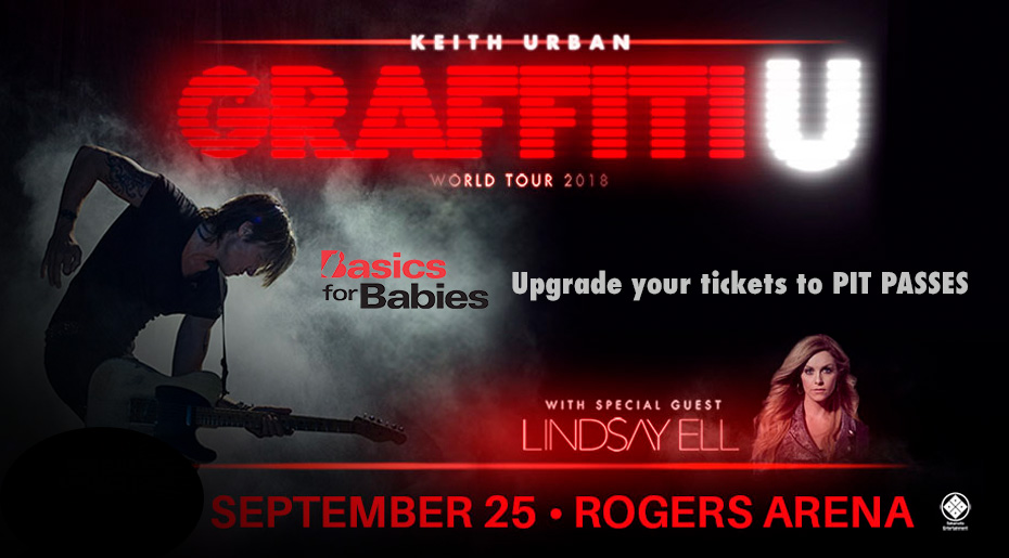 Win Pit Passes at the Keith Urban Concert
