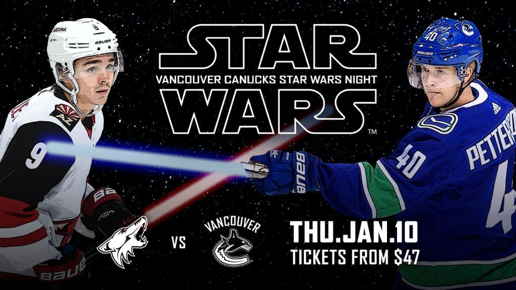 It's Star Wars Night At Rogers Arena Tomorrow. (ATTN: Jaxon Hawks)