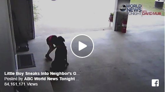 Boy caught on tape stealing...HUGS from his neighbour's dog!