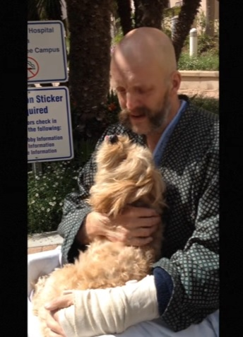A Puppy/Papa reunion that couldn't be more real...