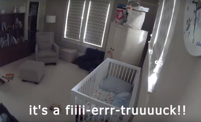 """WATCH: Toddler loses it because """"The Fire Truck is here!!"""""""