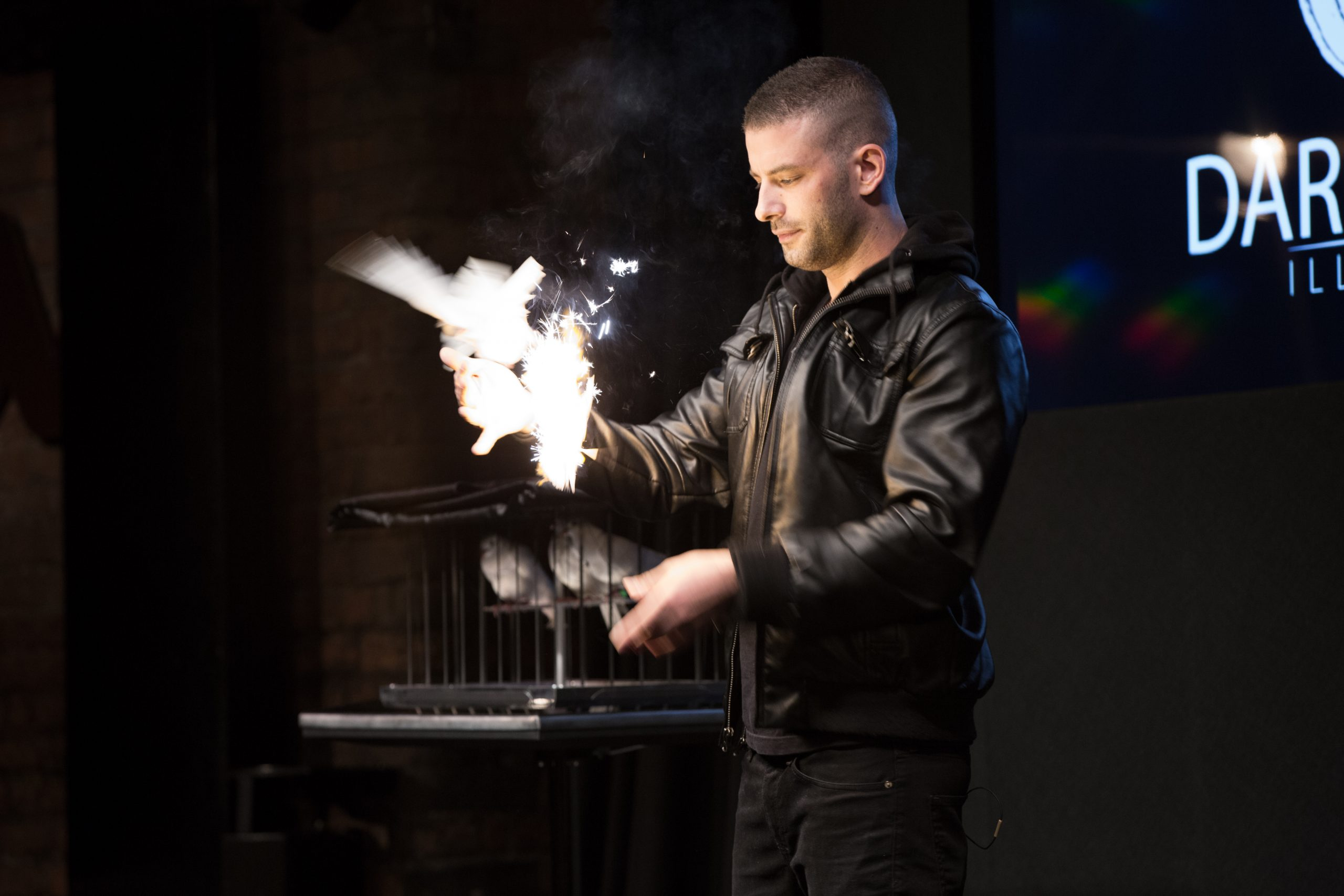 Darcy Oake  at The BURT in memory of his brother.