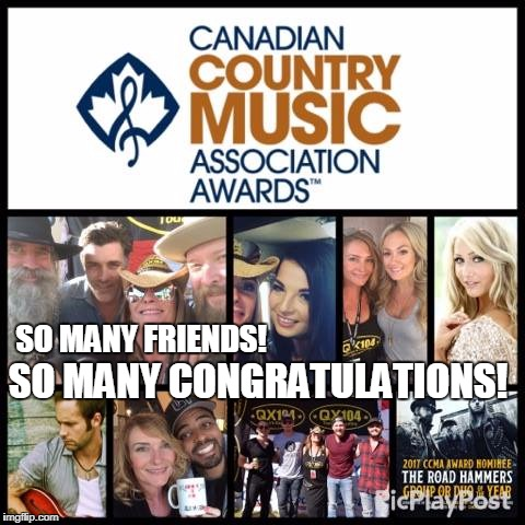 Congratulations! Complete list of the 2017 CCMA nominees...