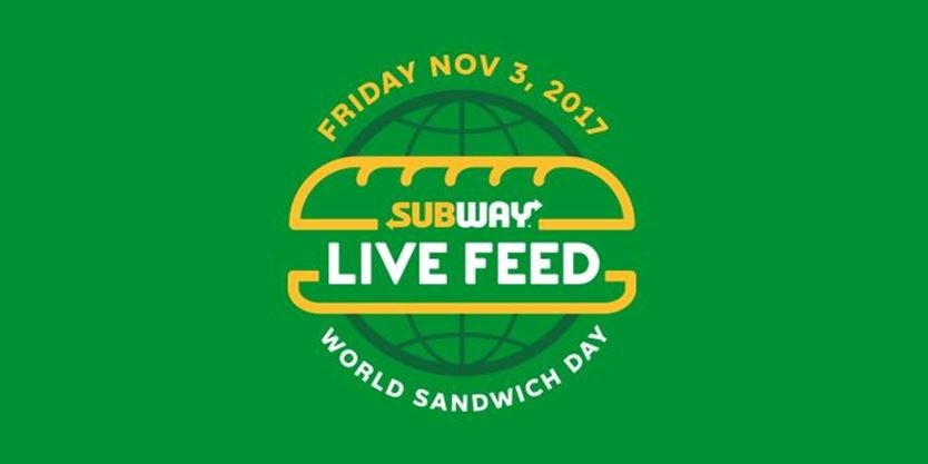 """Be part of SUBWAY's BIG , """"Feed The World Day"""", Tomorrow!"""