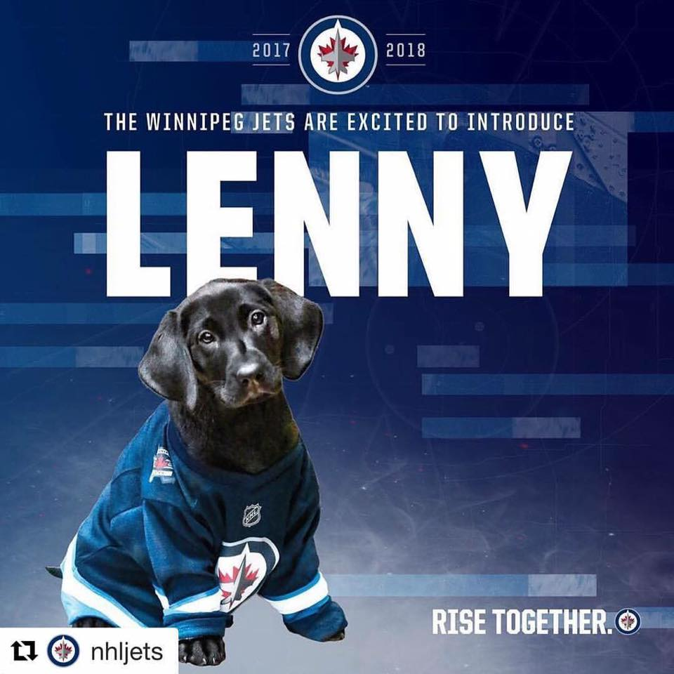 Lenny and the Jets!!!  The new security pup has a name and it's perfect!...