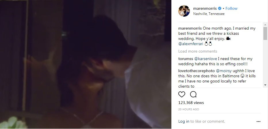 Maren Morris shares clips of her big day and reception in adorable 1 month anniversary video...Watch!