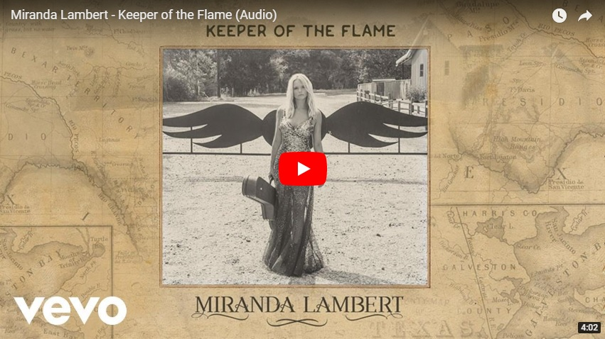 "New 2U at 2:02 April 24, 2018:  Would you add Miranda Lambert ""Keeper of the Flame"" to your personal playlist?...."