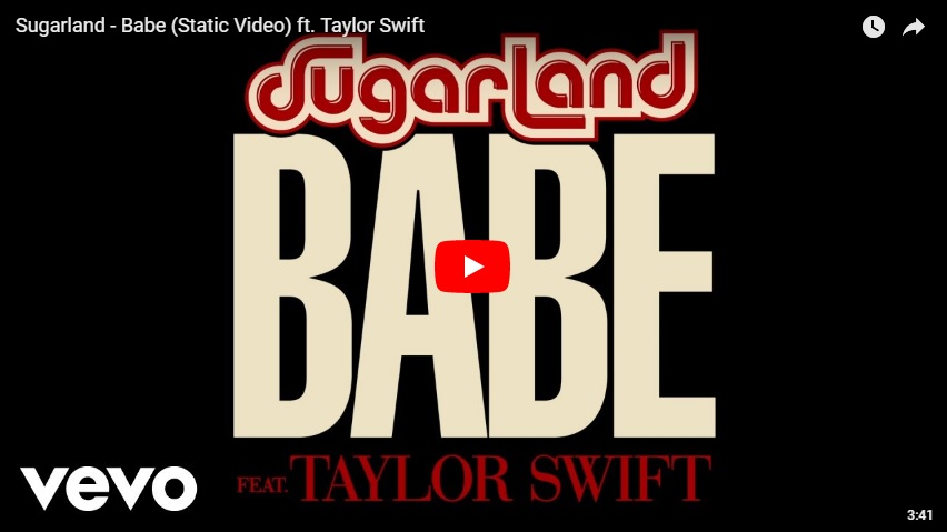 "New 2U at 2:02 April 23, 2018:  Would you add Sugarland ft. Taylor Swift, ""Babe"" to your playlist?..."