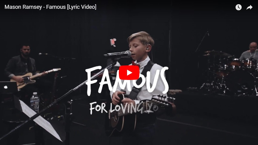 The Internet famous 11-yr-old Yodeling Kid is now a signed recording artist with his first single...Famous...would you add it?