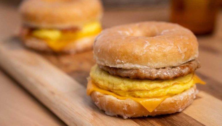 Timmies Is Selling A Donut Breakfast Sandwich - Would ya try it?