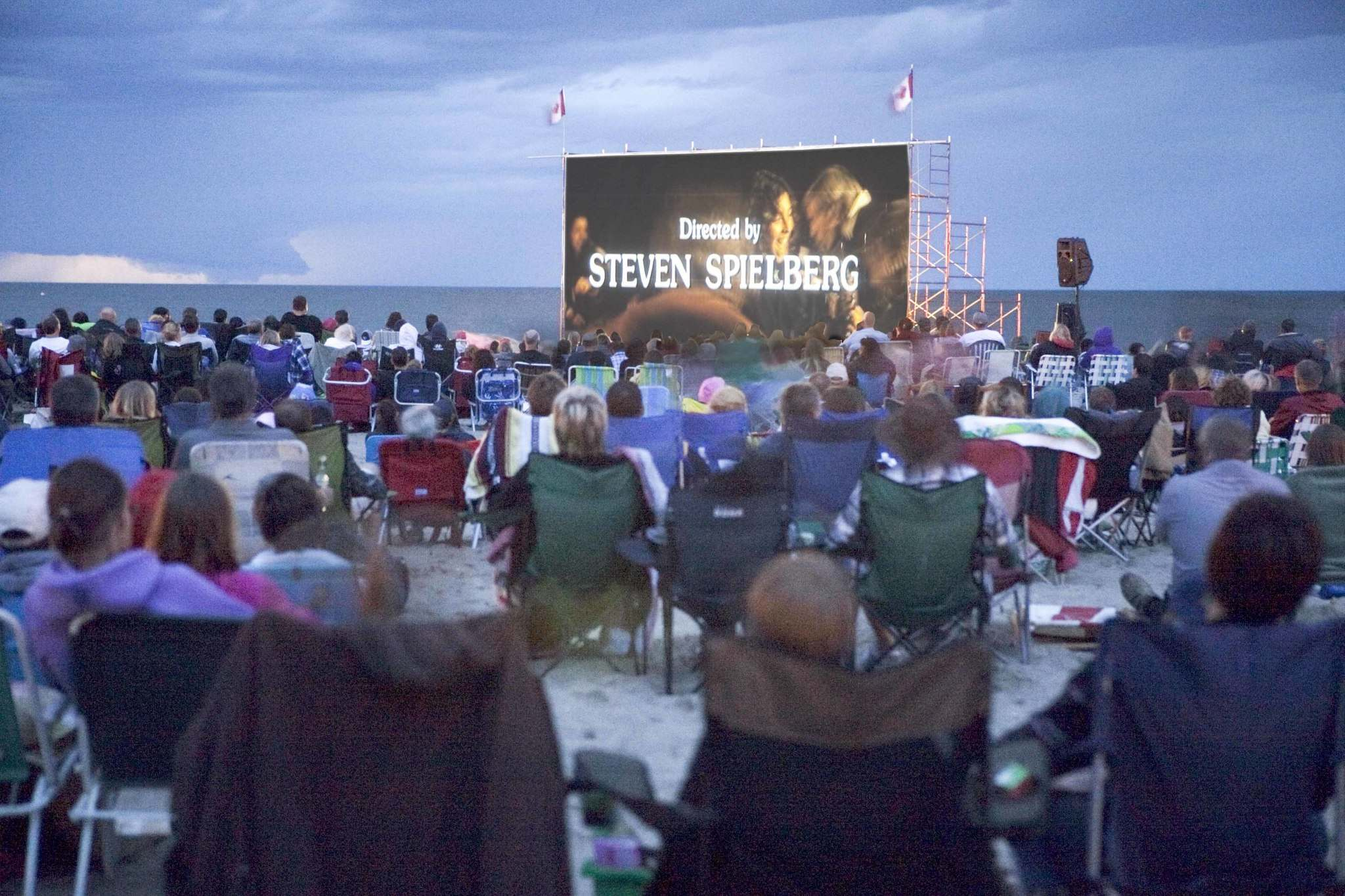 Watching Movies from the sand in GIMLI!