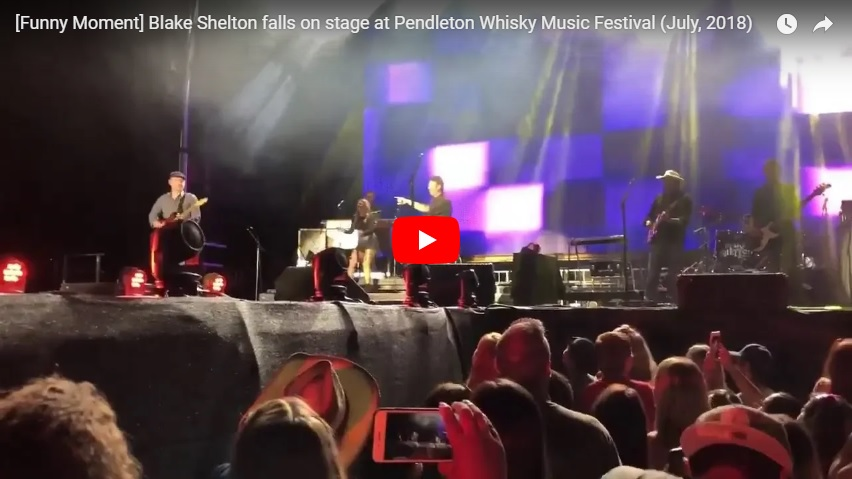 "Blake Shelton falls on stage and admits he'd been drinking ""a lot""...(Watch...)"