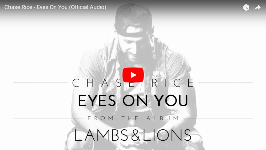"New 2U at 2:02 Aug. 21, 2018:  Would you add Chase Rice, ""Eyes On You"" to your personal playlist?..."