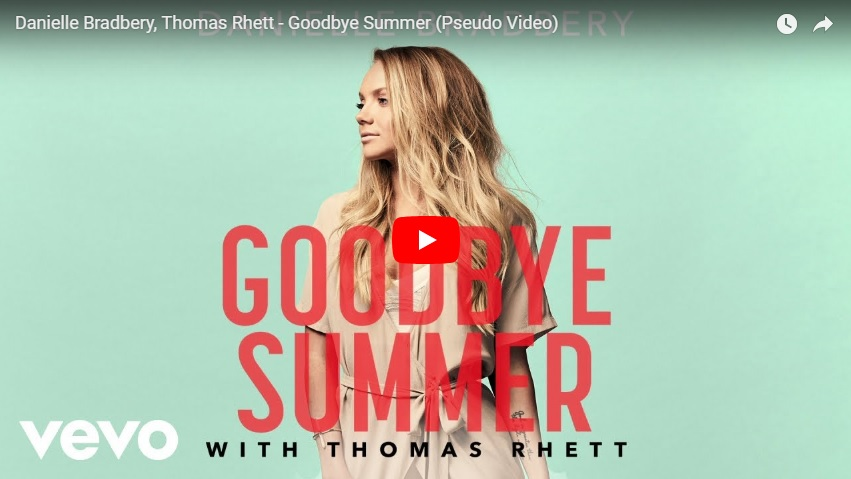 "New 2 U at 2:02 Aug. 13, 2018:  Would you add Danielle Bradbery ft. Thomas Rhett ""Goodbye Summer"" to your playlist?..."