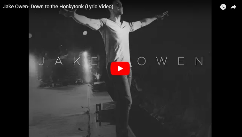 "New 2U at 2:02 Aug 16, 2018:  Will you add Jake Owen's ""Down to The Honkytonk"" to your personal playlist?..."