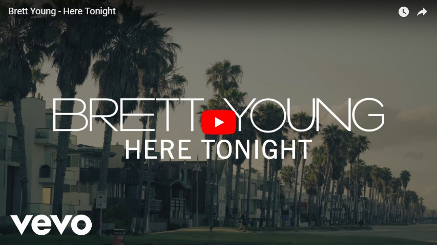 """New 2 U at 2:02 Sept. 24, 2018: Will you add Brett Young, """"Here Tonight"""" to YOUR playlist?..."""