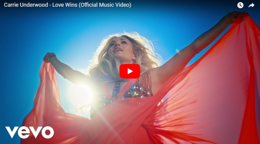 "Can Carrie Underwood unite the world with ""Love Wins""?  Check out the inspirational new video (WATCH!)..."