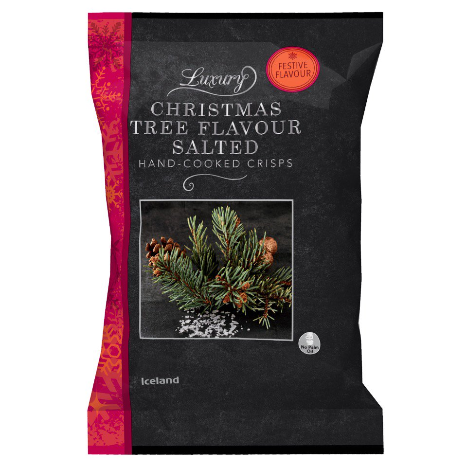 Christmas Tree flavoured chips...they are a thing...will you be ordering them for the holidays?!