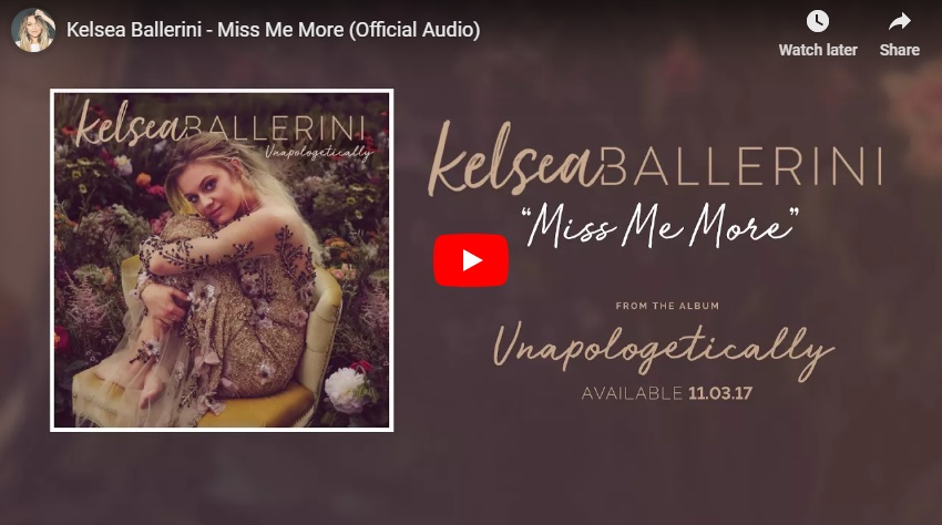 "New 2U at 2:02 Oct 18, 2018:  Will you add Kelsea Ballerini's ""Miss Me More"" to your personal playlist?..."