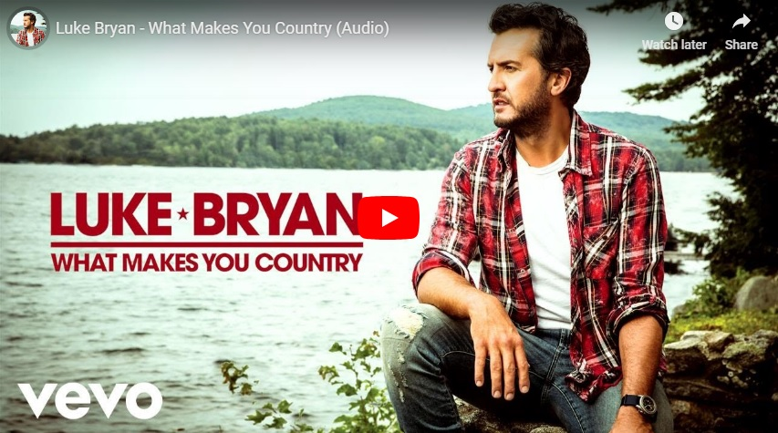 """New 2 U at 2:02 Oct. 31, 2018:  Will you be adding Luke Bryan's """"What Makes you Country"""" to your playlist?..."""
