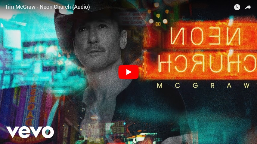 """New 2U at 2:02 Oct. 5, 2018:  Will you add the new Tim McGraw, """"Neon Church"""" to YOUR playlist?..."""