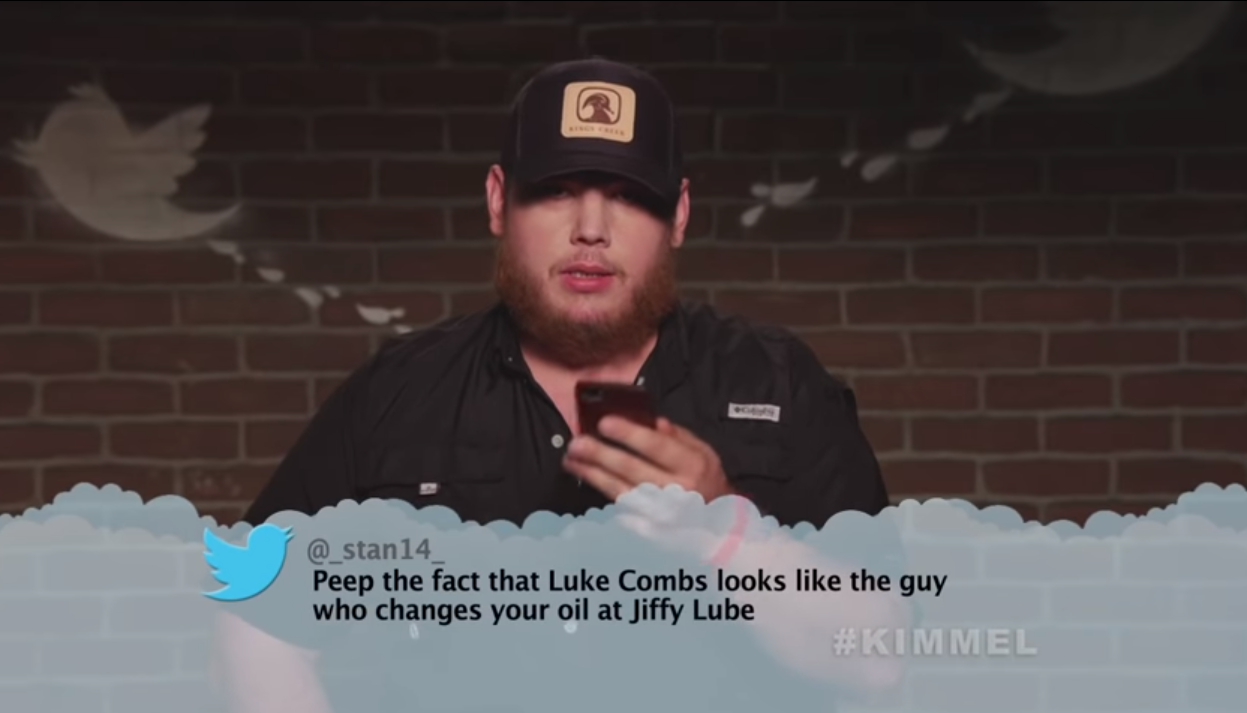 Luke Combs and Luke Bryan Are The Latest Country Stars In This Music Edition of Mean Tweets!