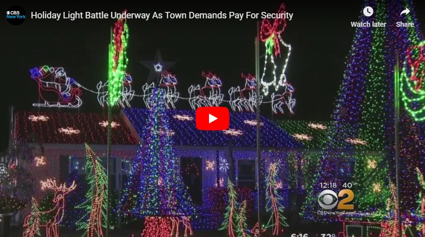 LIGHT FIGHT! New Jersey family facing $3000/day fine for Christmas lights display...