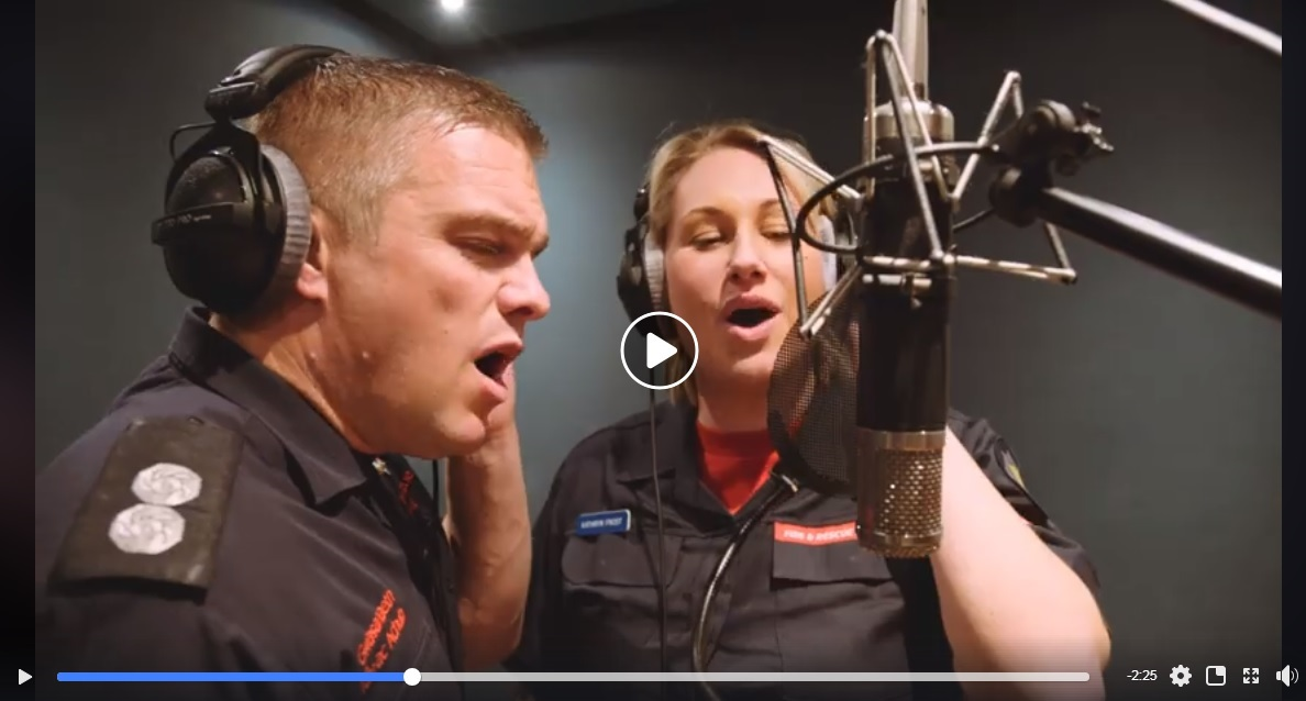 """The men and women of the Fire Service v XFactor: Real life """"Love Actually"""" style battle for the U.K. Christmas #1! (Watch!...)"""