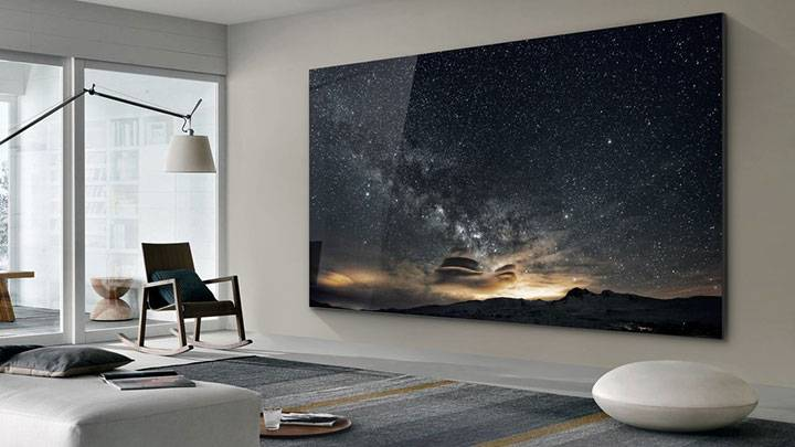 Samsung has unveiled it's 219-inch TV nicknamed 'The Wall'