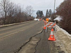 Damaged Road Closed
