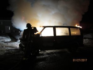 Another Suspicious Vehicle Fire in Vernon