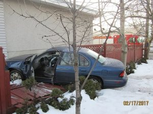 Car Runs Into Motel