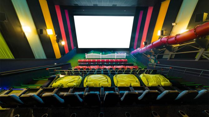Playground INSIDE theater.  Good idea?