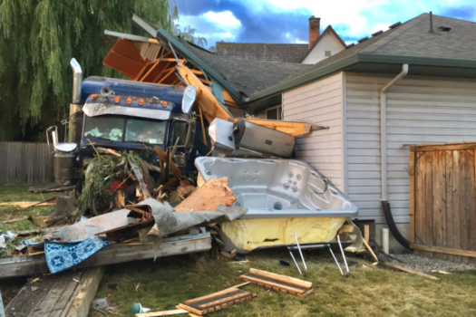 Update: Semi Hits Cow, Runs Into House