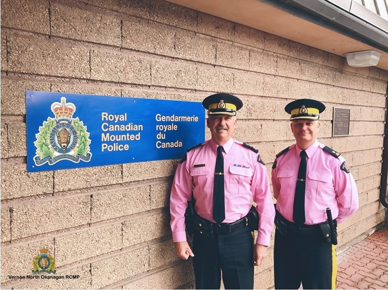 RCMP Go Pink To Support Anti-Bullying Message