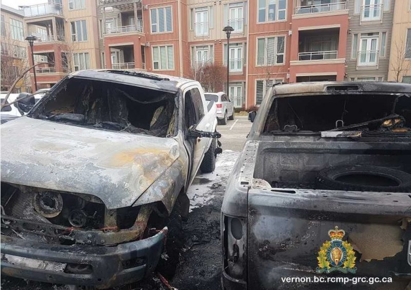 Fires To Vehicles Believed To Be Arson
