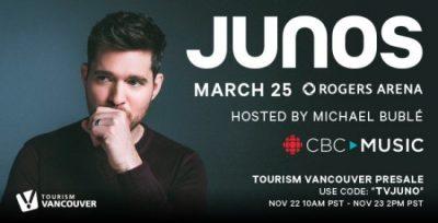 Junos Showcase Canada's Best in Music Tonight