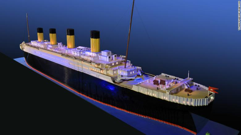 Boy with autism builds world's largest Titanic replica