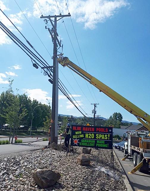 Crash Damages Power Pole