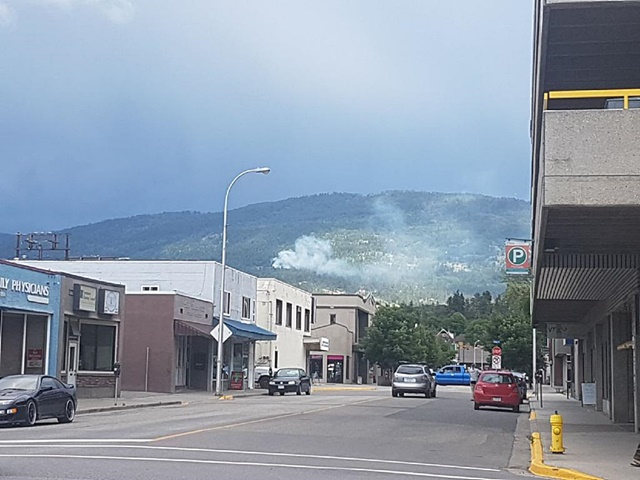 Crews Monitor Vernon Mountain Fire