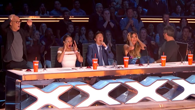 Scary slip on America's Got Talent