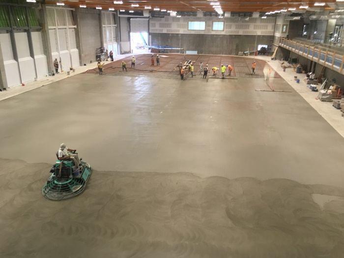 Slab Poured As Arena Opening Moves Closer