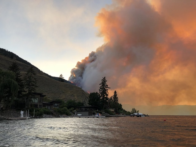 More Homes Evacuated Due to Eneas Fire