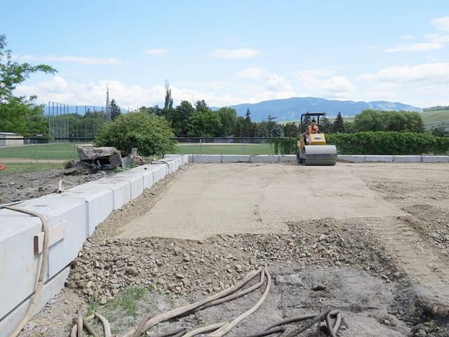 Work Progressing On Marshall Field Pickleball Court