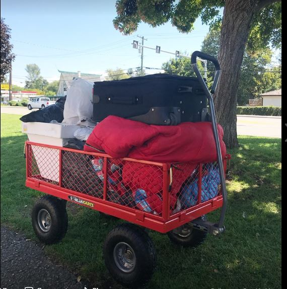 Wagons Replace Carts For Vernon Homeless