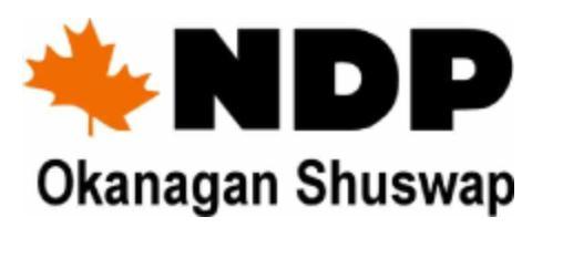 Shuswap NDP To Elect New Executive