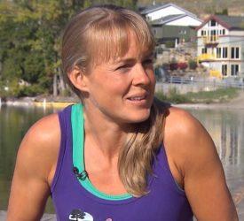 Shanda Hill On Her Bike, After 38k Swim